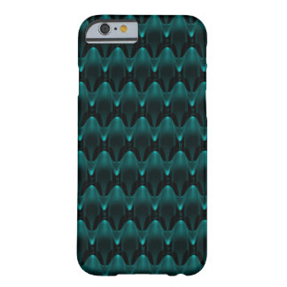 Neon Blue Alien Head Barely There iPhone 6 Case