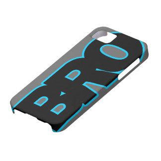 Neon Blue BRO iPhone 5 Case