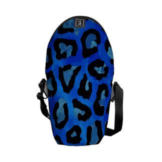 Neon Blue Cheetah Vector Commuter Bag