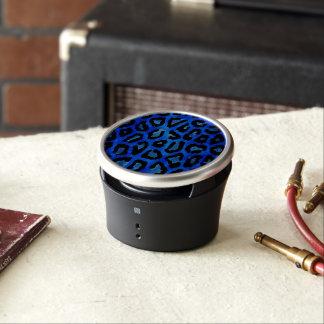 Neon Blue Cheetah Vector Speaker