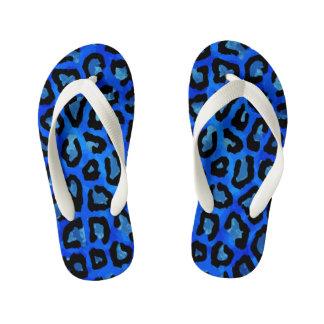 Neon Blue Cheetah Vector Thongs