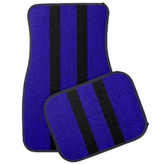 Neon Blue Color Velvet Personalize or Classic Car Mat