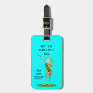 Neon BLUE Girl Scout JUNIOR | Custom Luggage Tag