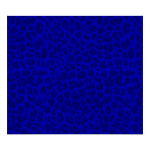Neon blue leopard print pattern