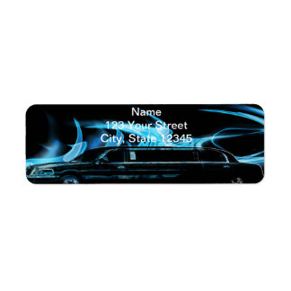 Neon Blue Limosine Manage this category Return Address Label