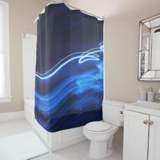 Neon Blue Lites 2 Shower Curtain