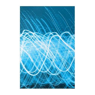 Neon Blue Lites Acrylic Wall Art