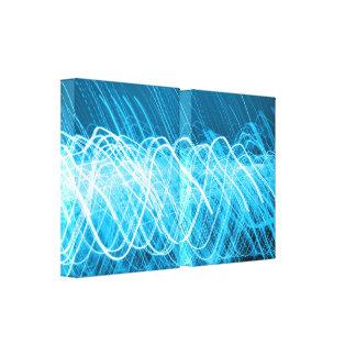 Neon Blue Lites Canvas Print