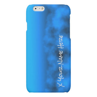 Neon Blue Night Sky With Black Insert Name