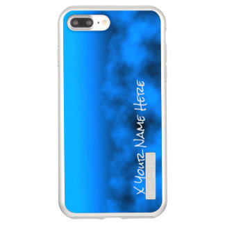 Neon Blue Night Sky With Black Insert Name Incipio DualPro Shine iPhone 8 Plus/7 Plus Case