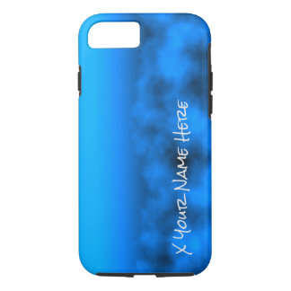 Neon Blue Night Sky With Black Insert Name iPhone 7 Case