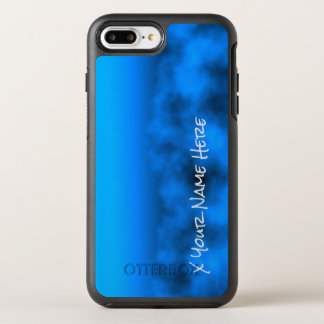 Neon Blue Night Sky With Black Insert Name OtterBox Symmetry iPhone 7 Plus Case