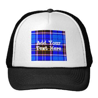 Neon Blue Plaid, Punk's Not Dead Trucker Hat