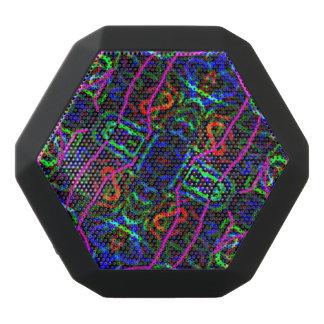 Neon Blue Purple Kaleidoscope Abstract Design
