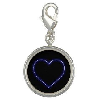 Neon Blue Valentines Heart