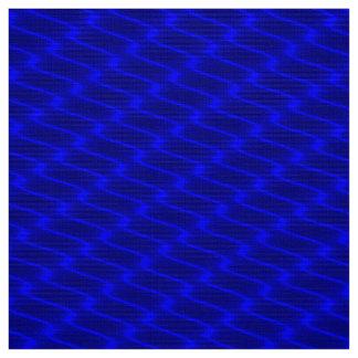 Neon Blue Wavy Lines Fabric Pattern