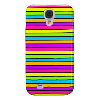 Neon Bright Stripes iPhone 3 Galaxy S4 Cover