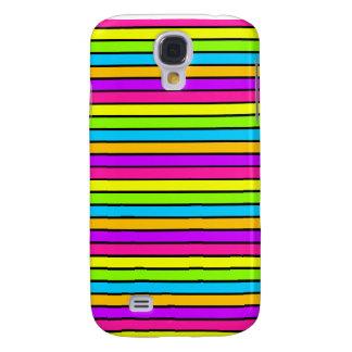 Neon Bright Stripes iPhone 3 Samsung Galaxy S4 Case