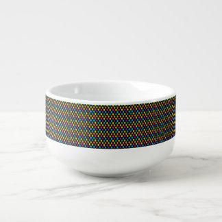 Neon Bright trendy fashion colorful design 3 Soup Mug
