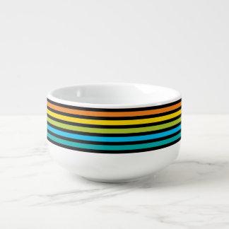 Neon Bright trendy fashion colorful design 4 Soup Mug