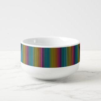 Neon Bright trendy fashion colorful design 6 Soup Mug