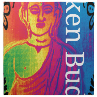 Neon broken buddha napkin