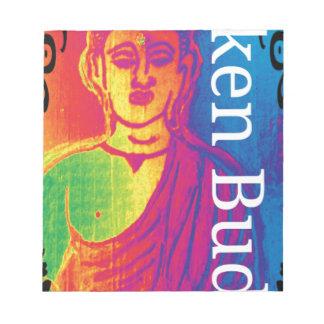 Neon broken buddha notepad