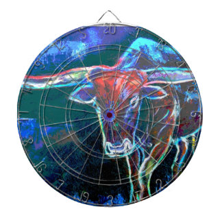 "Neon Bull""s Eye Dart Board"