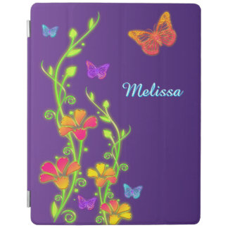 Neon Butterflies, Floral iPad 2/3/4 Cover 3 iPad Cover