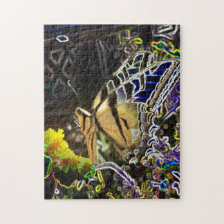 Neon Butterfly Jigsaw Puzzle
