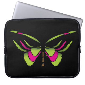 Neon Butterfly Laptop Sleeve
