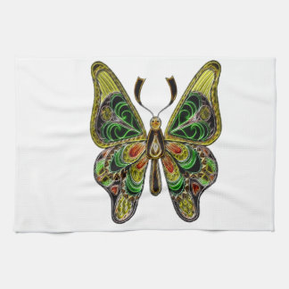 Neon Butterfly Tea Towel