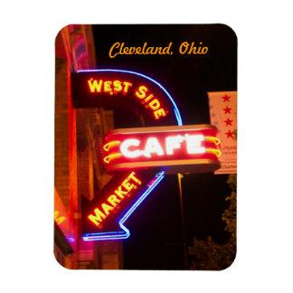 Neon Cafe Sign Market Flexi Magnet