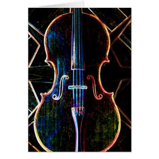 Neon Cello Card