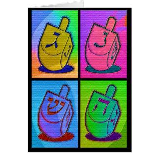 Neon Chanukah Card