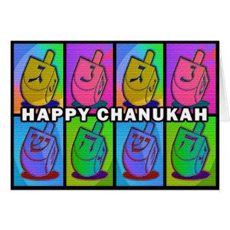 Neon Chanukah Card - landscape