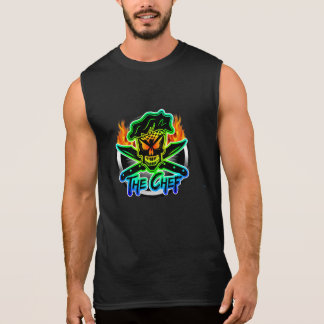 Neon Chef Skull Sleeveless Shirt