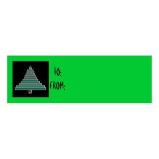neon christmas tree gift tag business card