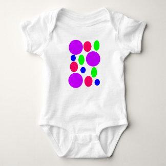 Neon Circles Design Baby Bodysuit