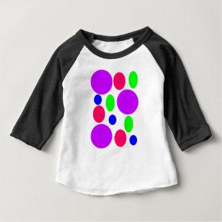 Neon Circles Design Baby T-Shirt