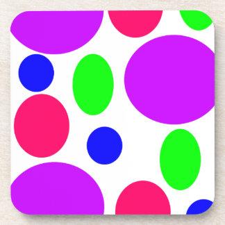 Neon Circles Design Coaster