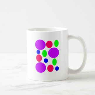 Neon Circles Design Coffee Mug