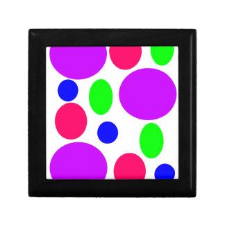 Neon Circles Design Gift Box