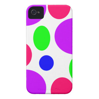 Neon Circles Design iPhone 4 Covers