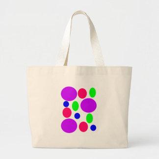 Neon Circles Design Large Tote Bag