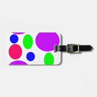 Neon Circles Design Luggage Tag