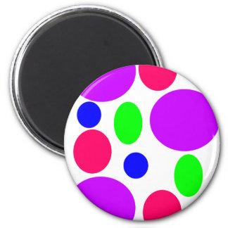 Neon Circles Design Magnet