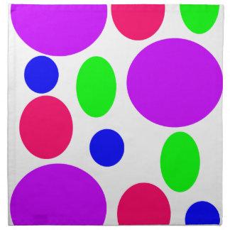 Neon Circles Design Napkin
