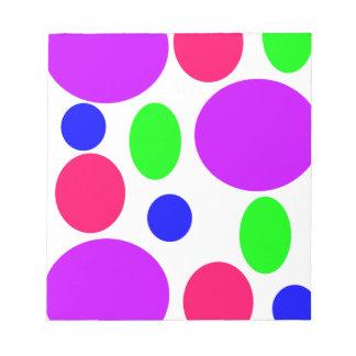 Neon Circles Design Notepad