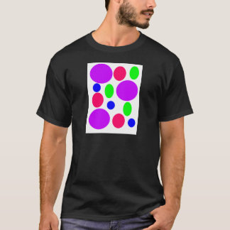 Neon Circles Design T-Shirt